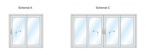 Schemat A i C dla patio HST